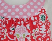 Holly Jolly Christmas Round Neck Dress in Red with Cute Present Pocket Size 3T READY TO SHIP