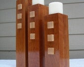SALE - Three Fires - Trio of Candle holders