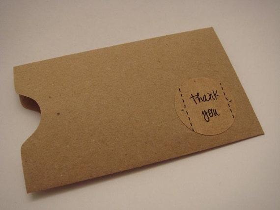 Natural Kraft Card Sleeves - Pack of 10