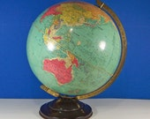 1930s Replogle Precision World Globe. 12-Inch. Vintage. 4099