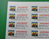 30 PERSONALIZED Handmade Especially For You Labels. 1 Sheet of White 1-Inch Labels. 5164