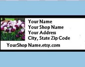 60 PERSONALIZED Return Address Labels. 2 Sheets of 1-Inch White Labels. 2642