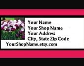 60 PERSONALIZED Return Address Labels. 2 Sheets 1-Inch White Labels. COLOR Picture. 2852