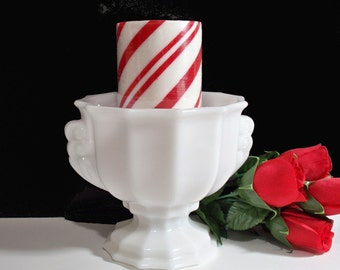 Urn by E.O. Brody. BUY 1 or 2 or 3. White Milk Glass Urn / Planter / Vase / Bowl / Candle Holder / Centerpiece. Vintage 5138