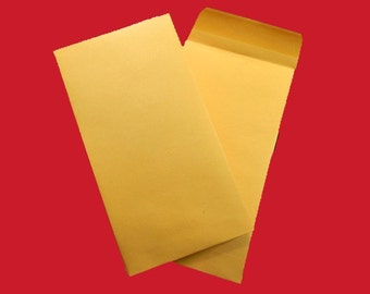 "10 Kraft Envelopes With Gummed Closure. 10 Kraft Coin Envelopes. 3.5"" by 6.5"". 4927"