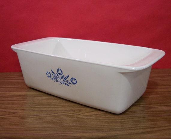 Corning Ware Loaf Pan 2 Quart Bake Serve Store Dish Blue