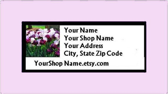 30 PERSONALIZED Return Address Labels. 1 Sheet of 1-Inch White Labels. COLOR Picture. 2445
