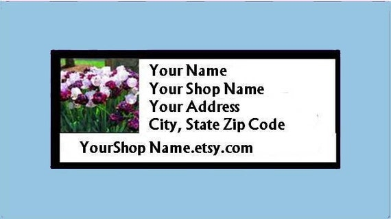 60 PERSONALIZED Return Address Labels. 2 Sheets of 1-Inch White Labels. 2648