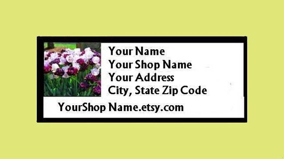 30 PERSONALIZED Return Address Labels. 1 Sheet of 1-Inch White Labels. COLOR Picture. 2224