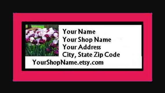 60 PERSONALIZED Return Address Labels. 2 Sheets 1-Inch White Labels. COLOR Picture. 2931