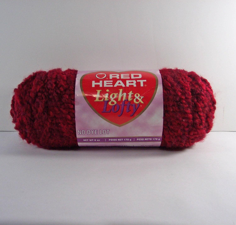 Knitting Patterns Red Heart Light Lofty : WINE COLOR YARN. RED HEART Light and Lofty 6 OZ YARN. 100