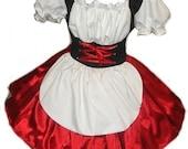 Heidi Halloween Costume German Barmaid Swiss Maid Oktoberfest dress Custom Size Made to Measue including Plus Size