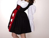 Queen of Hearts Dress - Alice in Wonderland Costume -  Halloween Costume - Queen of Hearts Costume - Womens Small Medium Large Xlarge 2X 3X