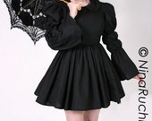 Black Gothic Lolita Dress Doll Dolly Cosplay Costume Custom Size Plus Size Made to Measure