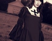 Gothic Lolita Dress Black Goth Nun Dress as seen in Muese Magazine  Custom Made to Measure Plus size