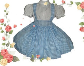 Dorothy Dress - Wizard of Oz Costume - Dorothy Costume - Blue Gingham Dress -  Storybook Costume - Halloween Costume - Custom Size