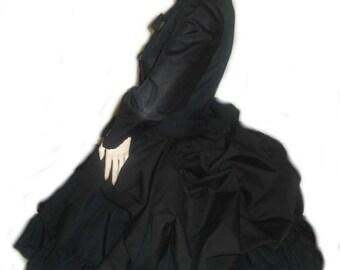 Steampunk Dress - Bustle Dress -  Military Dress -  Goth Dress - Gothic Dress - Black Dress - Lolita Dress - Custom Size - Plus Sizes
