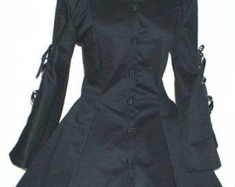 Jacket Goth Black Jacket Gothic Corset Jacket  Gothic Lolita Jacket Steampunk Jacket  Custom Size Made to Measure including Plus Sizes