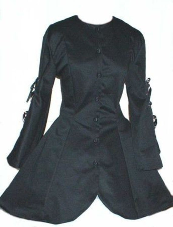 Black Steampunk Gothic Corset Jacket