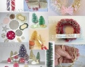 Bottle Brush Trees Make Your own Tutorial, sisal trees pdf digital Hedges Vintage Christmas Putz Topiary INSTANT DIGITAL DOWNLOAD
