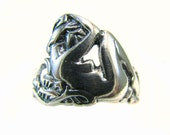 Art Nouveau Reclining Nude Ring - Artifact Collection - Sterling