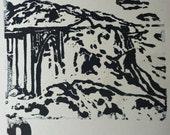 PCH- Pacific Coast Highway- Bixby Bridge Letterpress Print