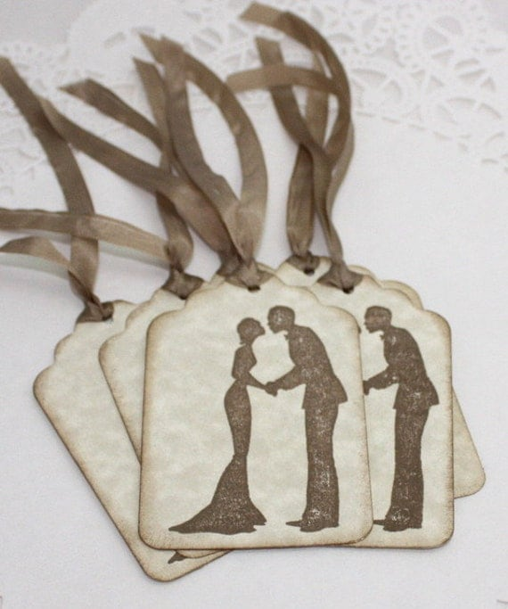 Tags/Silk Ribbon, Wedding Favor Tags, Bridal Shower Tags, Favor Tags ...