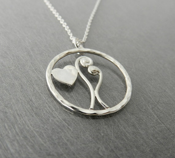 Sterling Silver Bean Sprouts in Love Necklace