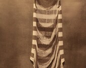 Deconstructed, Shredded, Striped Tank Top