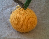 Little Golden Apple Ornament - Made to Order - Thanksgiving - Fall - Harvest - Back to School - Christmas