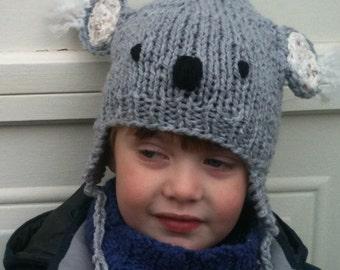 Kayla Koala Hat - Small - Child - Earflap Hat