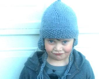 Earflap Hat - Aviators Cap - Childs Spring, Fall, Winter Hat
