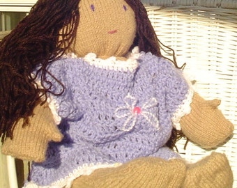 Cookie the Knitted Doll