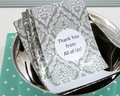 30 Paper Pockets for Small Packaging, Gift Bag, Mixed Grey, Silver