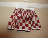 Holiday Cheer Swedish Dot Twirl Skirt Size 12 18 Month Ready to Ship