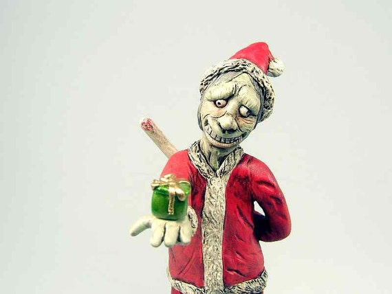 Dark Santa Horror Sculpture