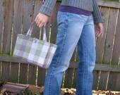 Purple Plaid Handbag