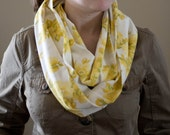 Long Infinity Scarf - Yellow Floral
