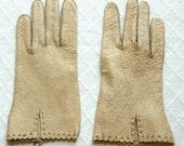 Vintage Pigskin Gloves,  1 pair, size 7.5