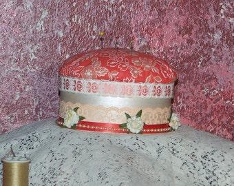 Peachy pin cushion/ Trinket box