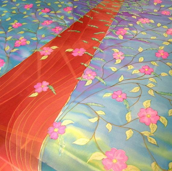 Wedding Chuppah Hand Painted Silk CUSTOM ORDER Tree Of Life Or Theme by your choice