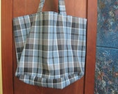 Blue Plaid Bag