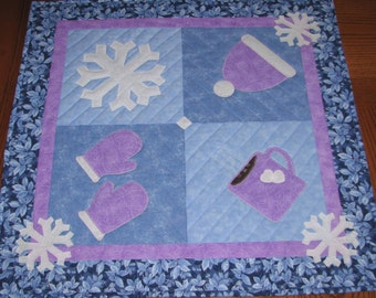 Winter Joy Table Topper and Table Runner Pattern QCP_301