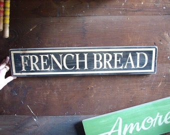 French Bread Shabby Chic Sign wooden bakery cafe paris