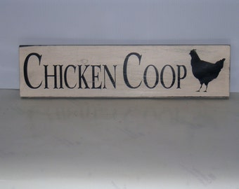 Chicken Coop Sign Wooden Shabby Chic Farm Kitchen Eggs Country