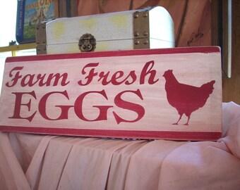 Farm Fresh Eggs Shabby Sign Chic Vintage Farm Chicken Kitchen