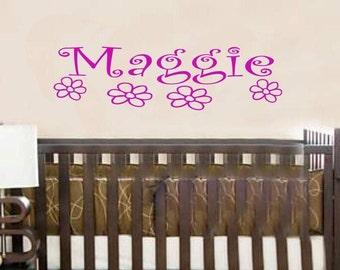 Wall Decal Personalized Name Children Baby Girls Vinyl Sticker Word Art Lettering Bluestreak Decals