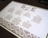 The Damask Seating Chart - I PRINT IT FOR YOU