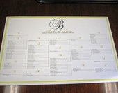 RESERVED for hollers - PRINT-  Monogram Seating Chart