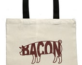 Bacon Canvas Tote